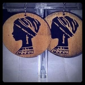Afrocentric Turbaned Woman Earrings